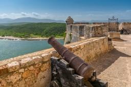Cannon in San Pedro de la Roca, Santiago de Cuba