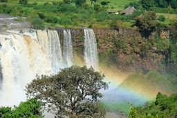 Waterfall in the Blue Nile