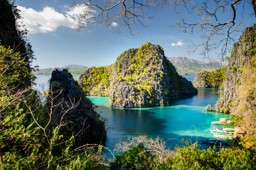 Views of idyllic islands in the Philippines