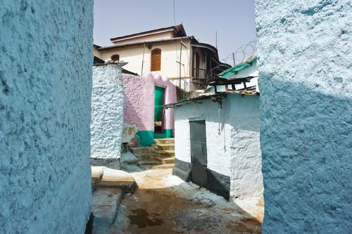 Harar colourful streets in Ethiopia