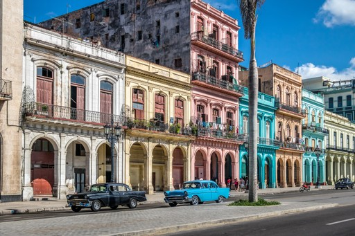 Colourful houses and cars in Havana