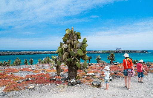Family on Galapagos Islands