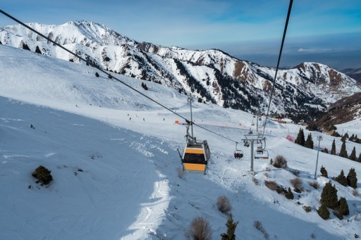 Skiing resort Mountain Shymbulak Almaty Kazakhstan