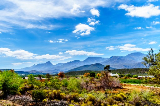 View over the Klein Karoo, South Africa