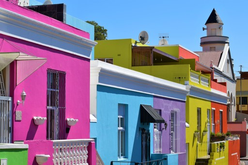 Bo Kaap area of Cape Town - colourful houses