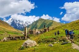 Landscape around Ushguli, Georgia