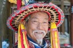 Naxi ethnic man, Lijiang, Yunnan