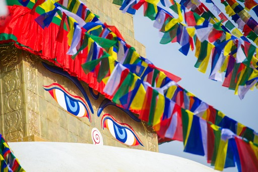 Celebration flags in Nepal
