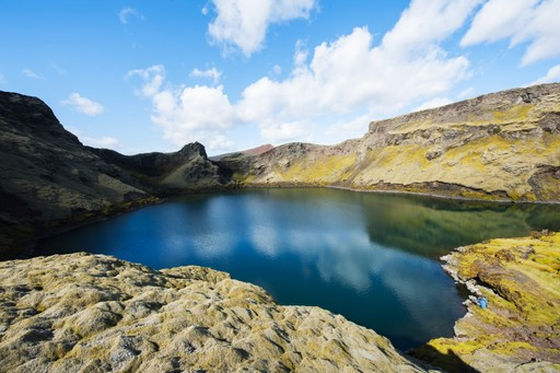 View over Laki crater, Iceland