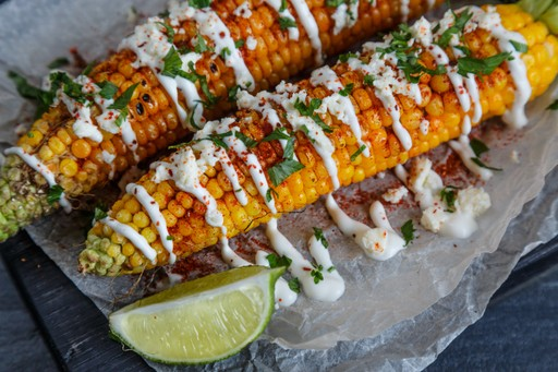 Elote traditional mexican food