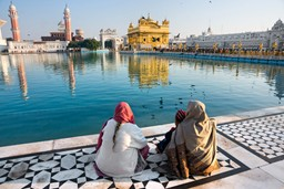 Women by the lake at Amritsar