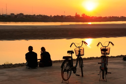 Vientiane Sunset Mekong Bicycles