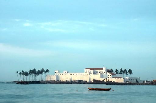 Ghana Elmina castle fort dusk