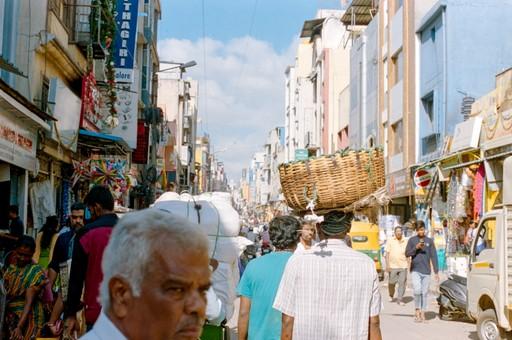 India city streets