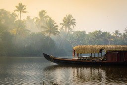 Kerala river and houseboat