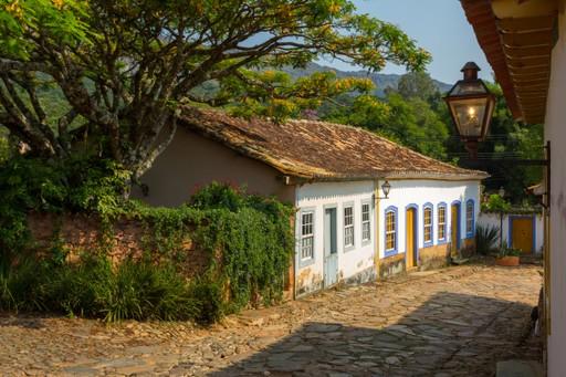 Pretty colonial houses of Minas Gerais