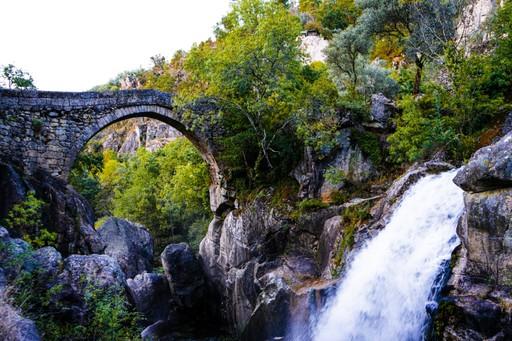 Stone bridge in Geres, Portugal