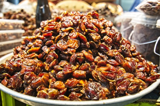 Dates being sold in Matrah Market in Oman