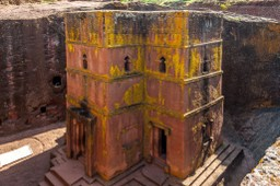Rock church of Lalibela in Ethiopia