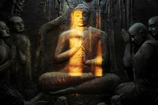 Buddha mural in Kandy