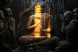Mural of Buddha, Kandy, Sri Lanka