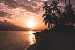 Sunset in San Blas, Nicaragua