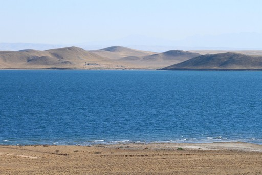 The calm waters of Aydar Lake in Uzbekistan