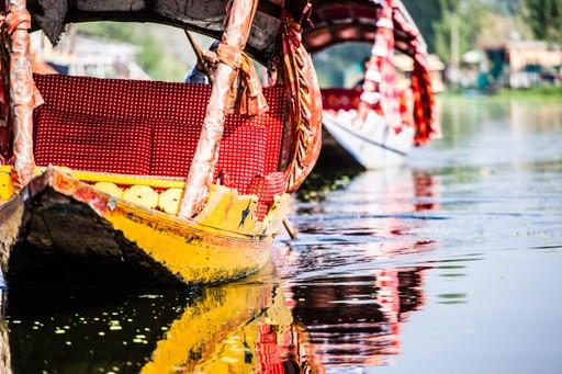 Shikara boat in Dal lake, India