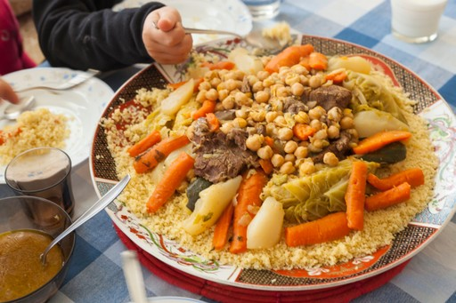 Couscous at a Moroccan family meal