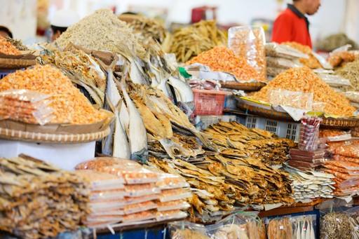 Fish market, Sandakan, Borneo