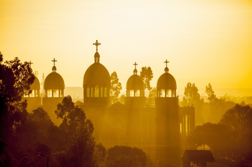 Addis Ababa Church sunset