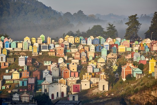 The colourful cemetery at Chichicastenango
