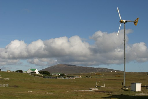 Wind turbines on Pebble Island
