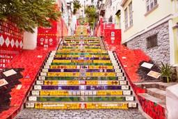Escadaria Selarón - tiled steps in Rio de Janeiro
