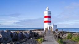 Icelandic lighthouse in the sun
