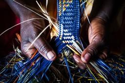 Rwandan hand braiding