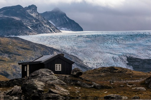 Jotunheimen national park glacier and hut