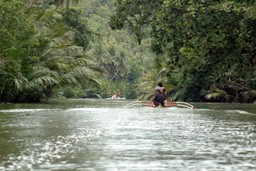 Exploring a Filipino river