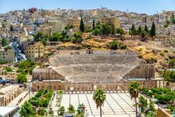 Roman Coliseum in Amman, Jordan