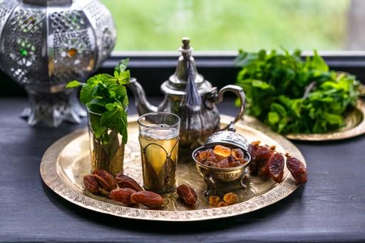 Traditional mint tea morocco