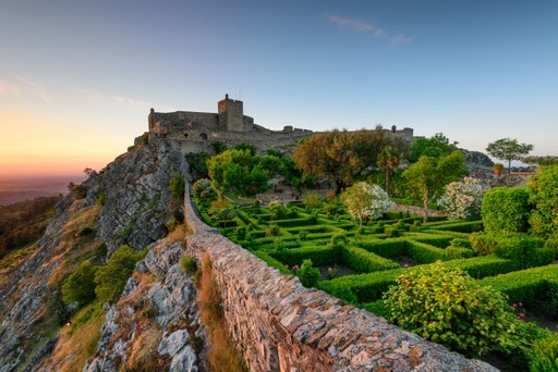 Castle Marvao, Portugal, at sunset