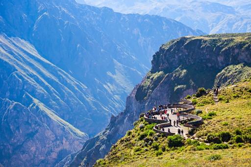 The Cruz del Condor viewpoint overlooking the Colca Canyon