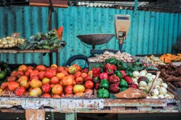 A fruit and veg stall in Havana, Cuba