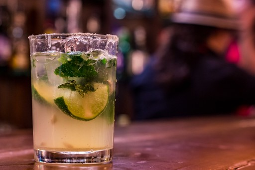 A Cuban mojito cocktail