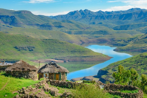 Views over the Lake of Mohale Dam, Lesotho