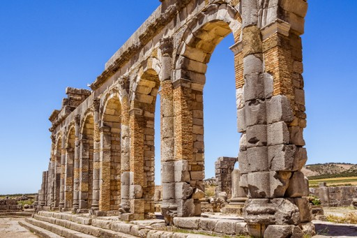 The Roman ruins of Volubilis in Morocco