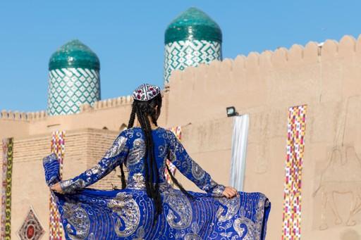 Dancers in Uzbekistan