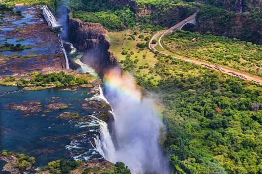 Victoria Falls on the border of Zimbabwe and Zambia