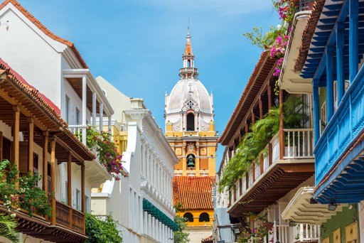 The colourful streets of Cartagena in Colombia
